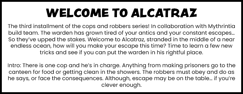 Cops and Robbers 3: Escape from Alcatraz Minecraft Map
