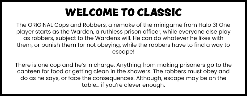 Cops and Robbers: Classic Minecraft Map